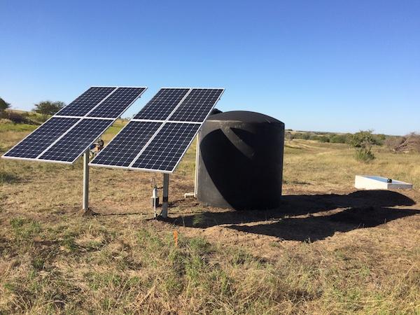 solar setup with trough